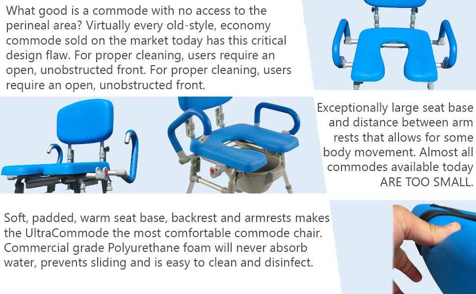 Ultracommode Foldable Shower/Commode Chair