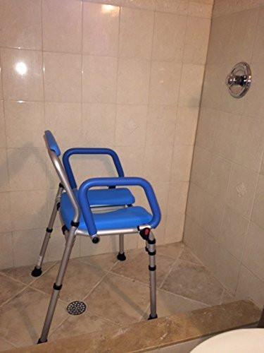 PADDED SHOWER CHAIR - blue