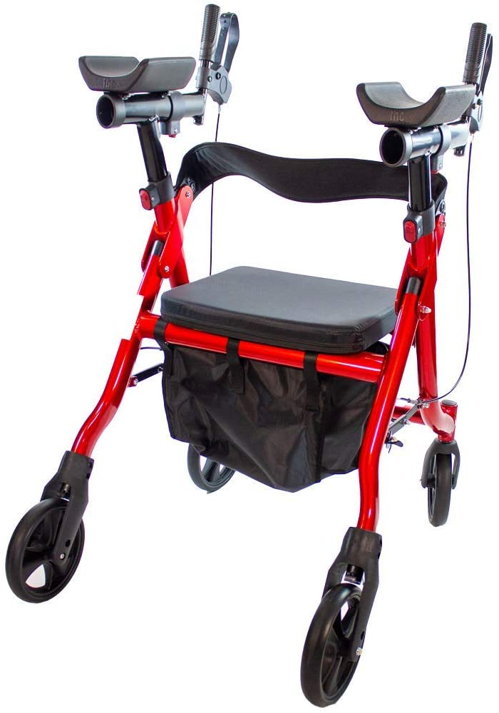 Walking Tall Deluxe Stand-Up Walker/Rollator with Elbow Support