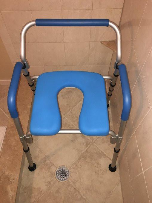 Commode Chair/Shower Chair, Versatile(tm) 3-in-1 PADDED Commode ...