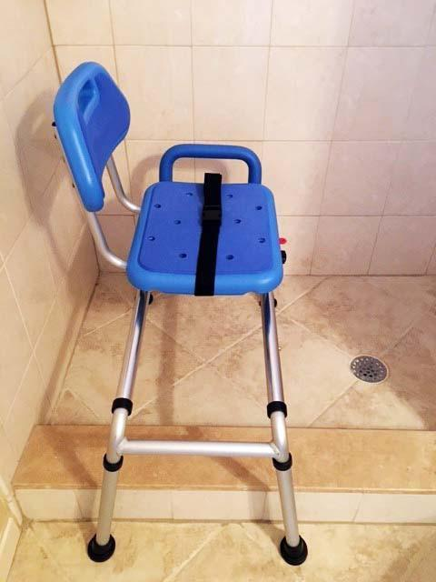 Reconditioned - Gateway Premium Sliding Bath Transfer Bench with Swivel Seat PADDED
