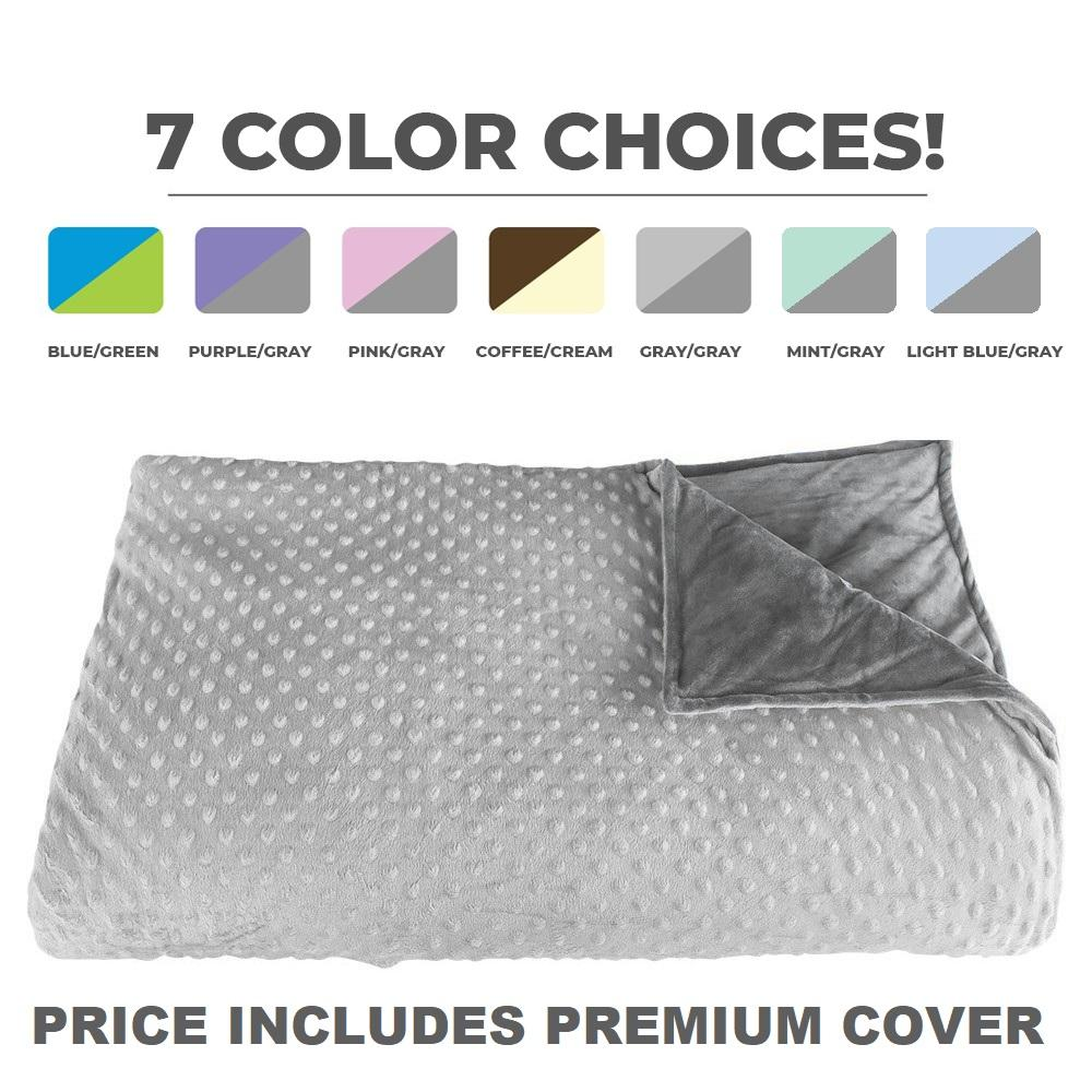 CALMFORTER(TM) WEIGHTED BLANKET PREMIUM WEIGHTED BLANKET -  Gray/Gray