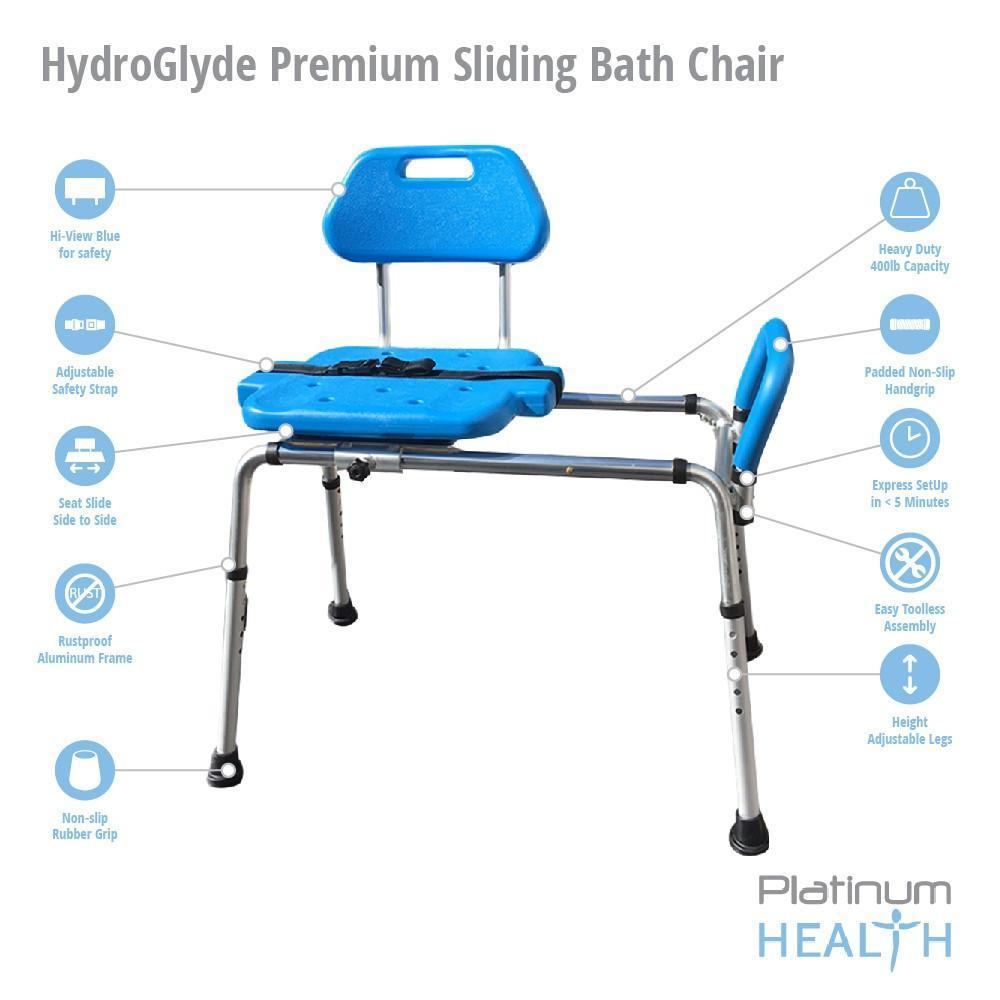 Reconditioned - HydroGlyde Premium Sliding Bath Transfer Bench ...