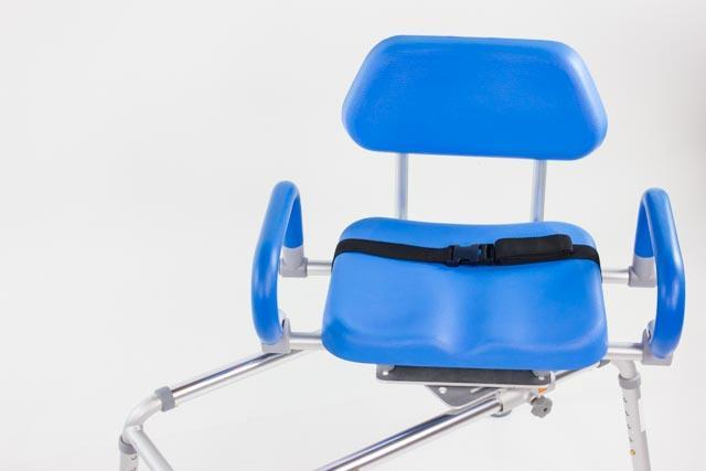 sliding transfer bench with swivel seat