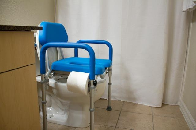 DIGNITY COMMODE, MEDICAL-GRADE ALUMINUM, COMMERCIAL-GRADE CONSTRUCTION