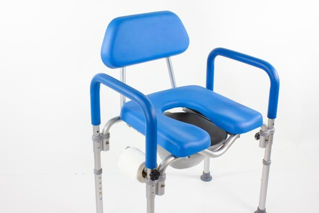DIGNITY COMMODE / Shower Chair, MEDICAL-GRADE ALUMINUM, COMMERCIAL-GRADE CONSTRUCTION, UNIVERSAL HEIGHT ADJUSTABILITY