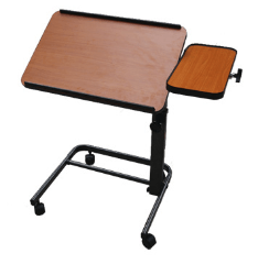 Acrobat Adjustable Overbed (or) Laptop Table - Brown Maple