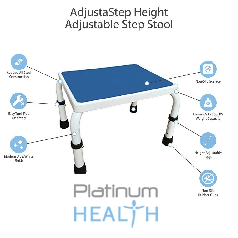 HEIGHT ADJUSTABLE STEP STOOL Features