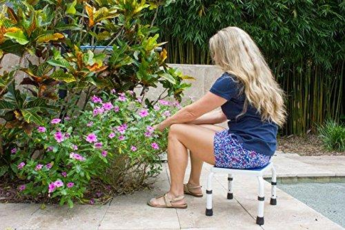 HEIGHT ADJUSTABLE STEP STOOL for sitting