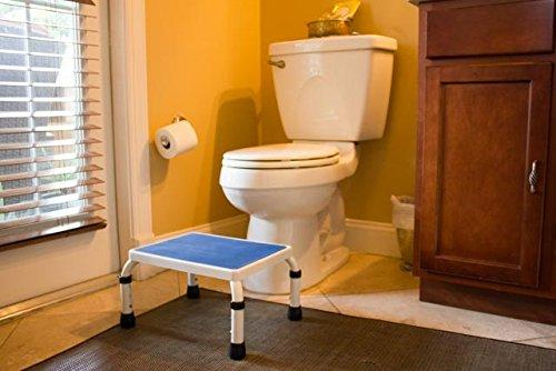 HEIGHT ADJUSTABLE STEP STOOL for Bathroom