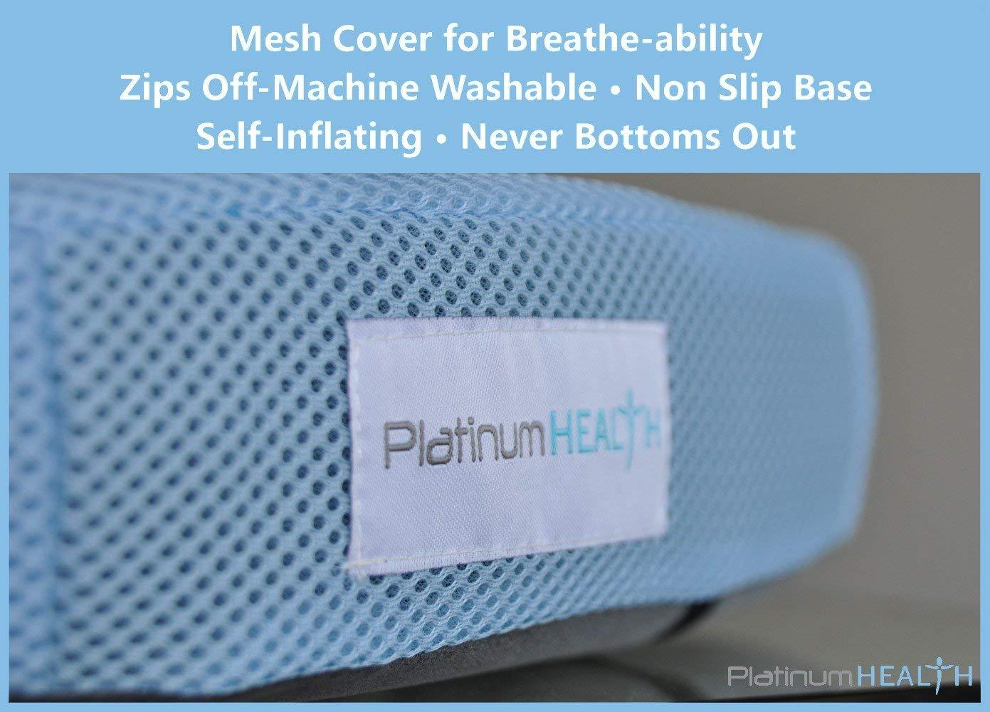 AIR-LOGIC PREMIUM SEAT CUSHION breathable mesh cover, washable, non slip base