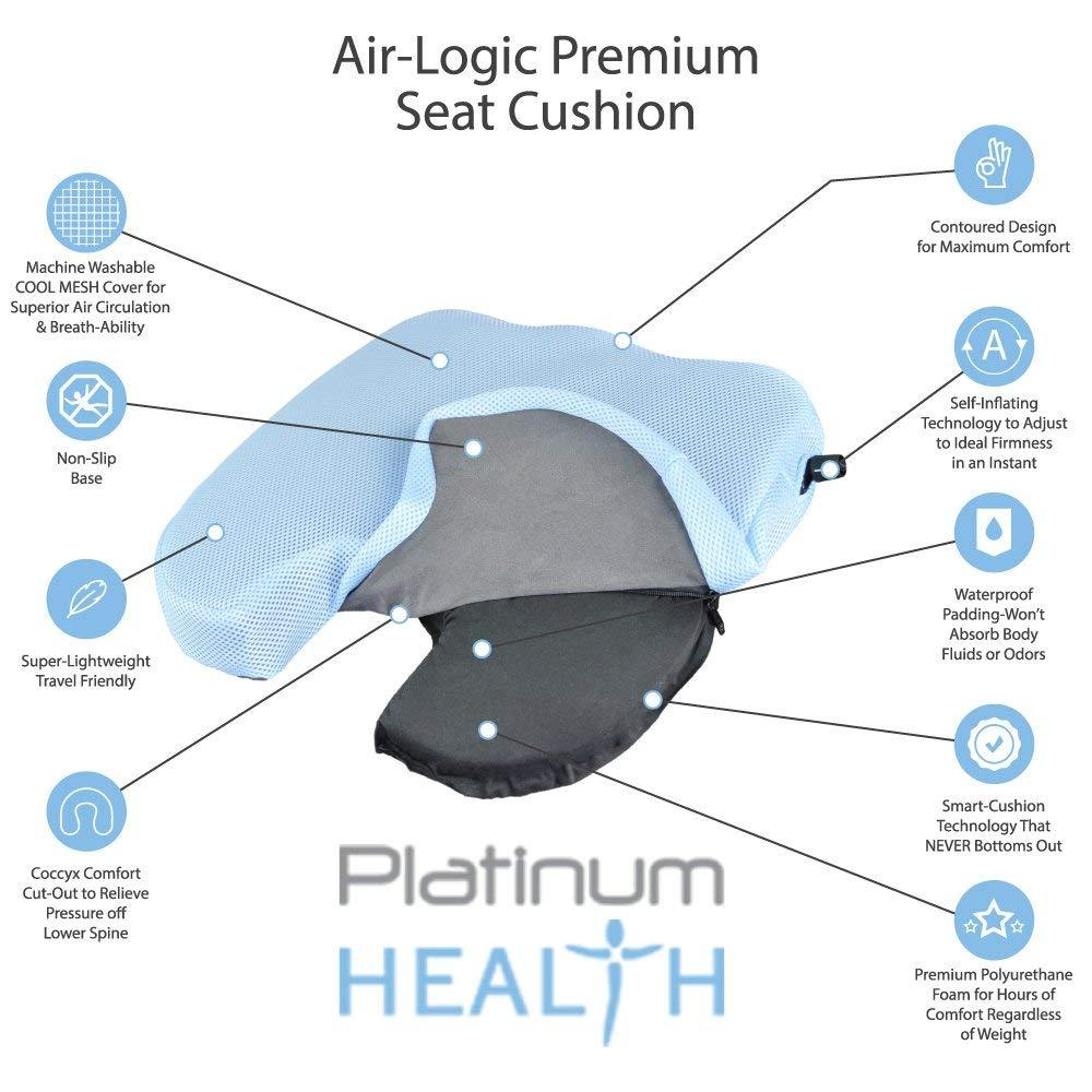 AIR-LOGIC PREMIUM SEAT CUSHION features