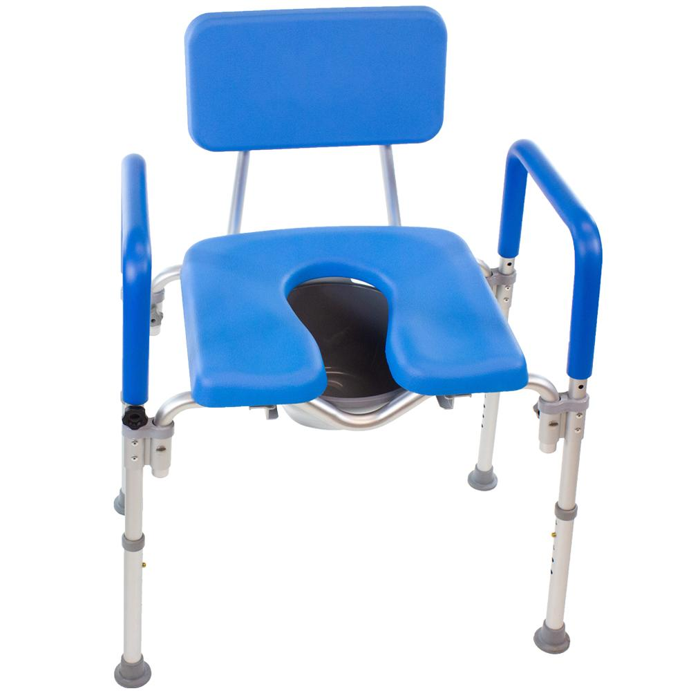 Dignity Ultra-Premium Padded BARIATRIC Extra Large Commode/Shower Chair. 600lb Capacity