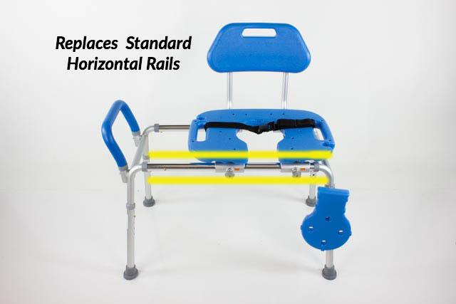 Horizontal Extended Rails - Exclusively for HydroGlyde Sliding Transfer Bench