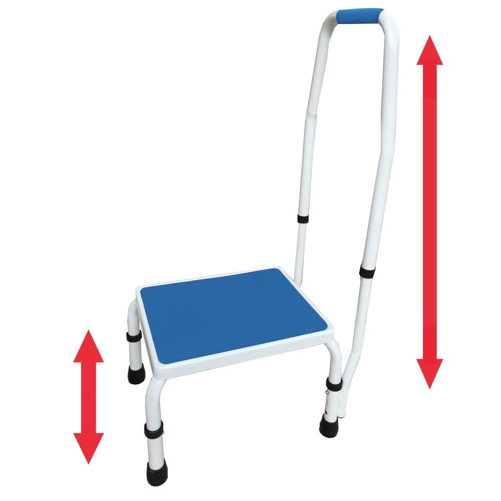 AdjustaStep Deluxe Step Stool with Handrail