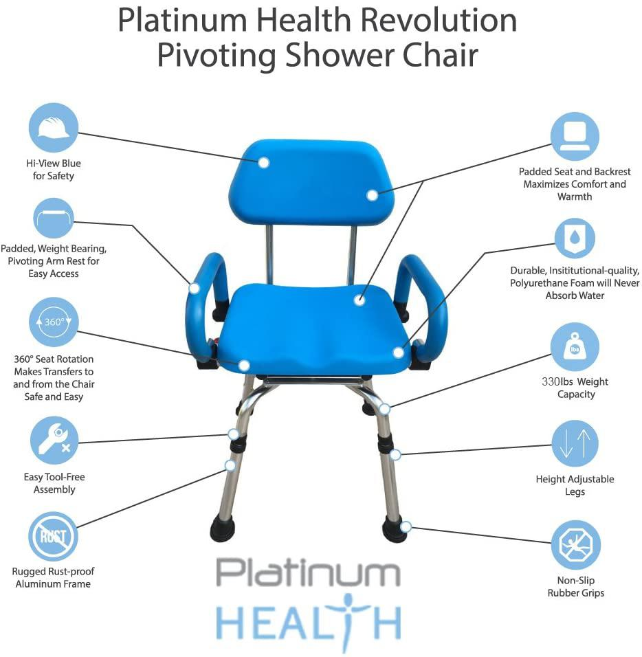 The Revolution Swivel Shower Chair features