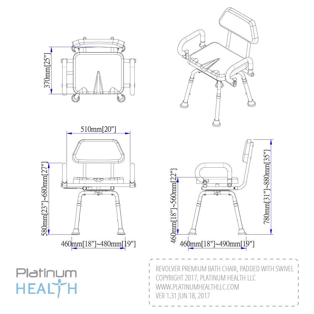 Revolver Swivel Shower Chair