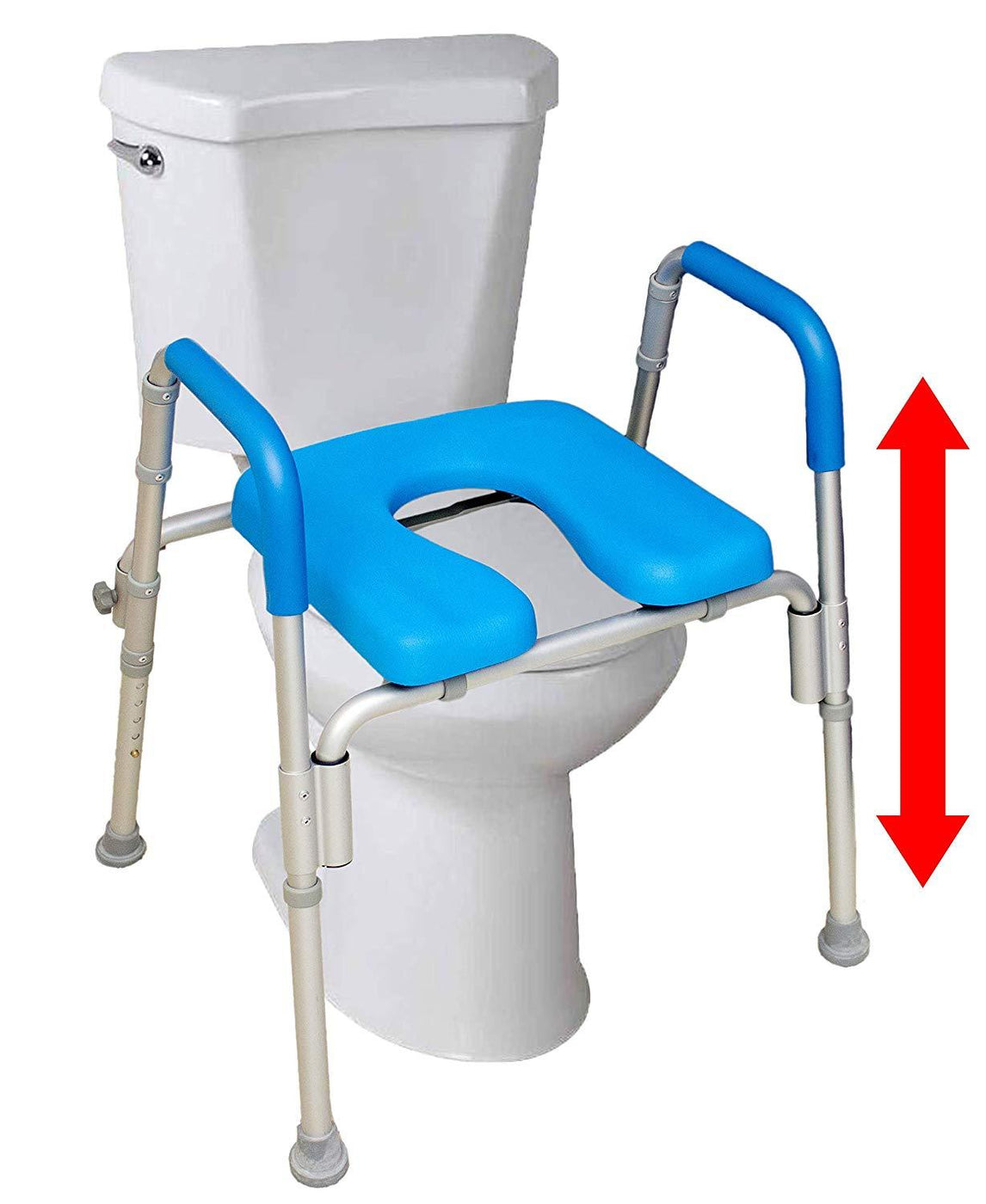 THE ULTIMATE™ RAISED TOILET SEAT - height adjustable