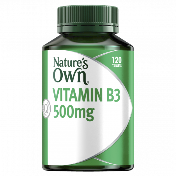 Natures Own Vitamin B3 500mg 120 Tablets