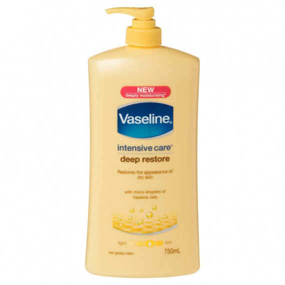 Vaseline Intensive Care Deep Restore Lotion 750ml