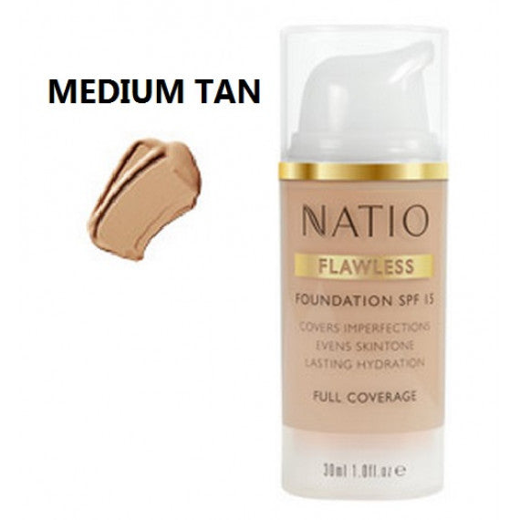 Natio Flawless Foundation SPF15 Medium Tan