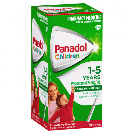 Panadol Children Suspension 1-5 Years Strawberry 200ml