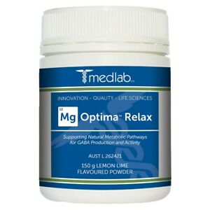 Medlab Mg Optima Relax 150g Lemon Lime Supports Natural Metabolic Pathways