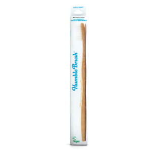 The Humble Co Adult White Bamboo Toothbrush Soft Bristle