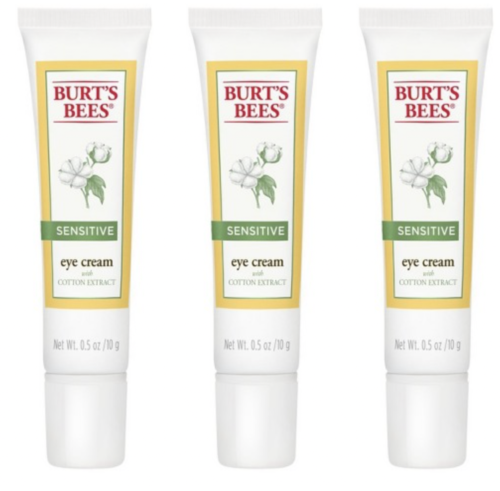 Burt's Bees Sensitive Eye Cream with Cotton Extract, 98.9% Natural 10g