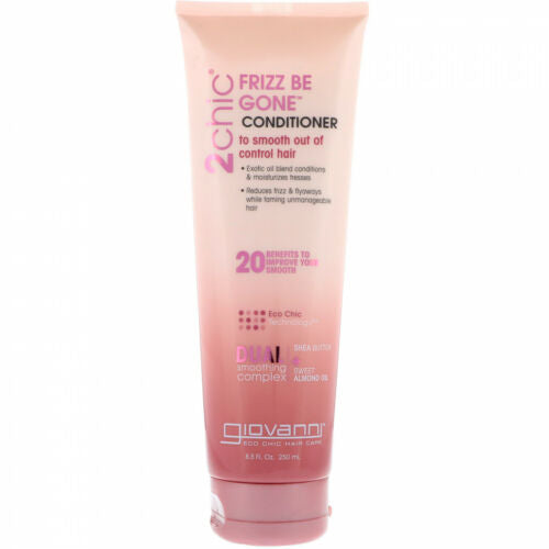 Giovanni, 2chic, Frizz Be Gone Conditioner, Shea Butter + Sweet Almond Oil, 250mL