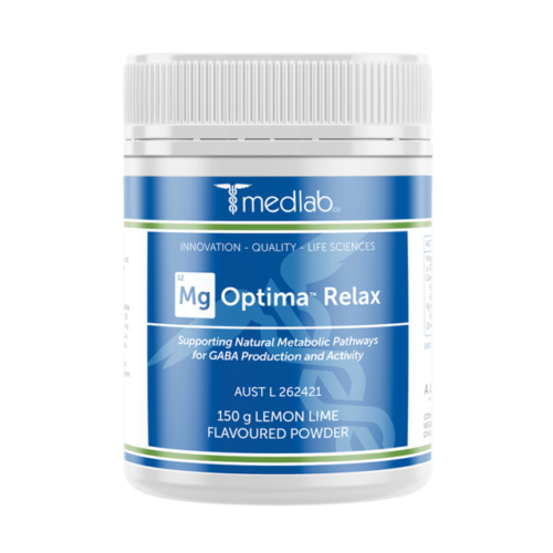 Medlab Mg Optima Relax Lemon and Lime Flavour - 300g Powder