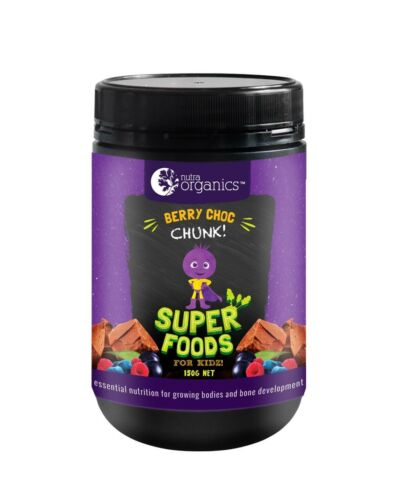 Nutra Organics-Super Foods for Kidz Berry Choc Chunk 150g Powder