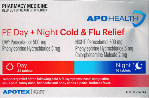 APOHEALTH PE COLD & FLU RELIEF DAY & NIGHT 48 TABLETS
