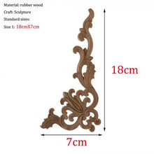 Load image into Gallery viewer, Style Wooden  Applique Decorative Antique Flower