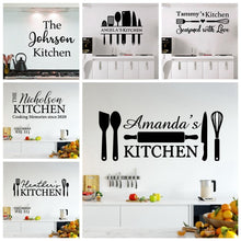 Load image into Gallery viewer, DIY Custom Name Kitchen Wall Stickers
