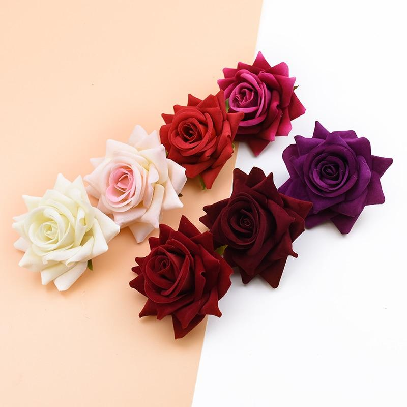 10PCS Silk Red Roses Bridal Accessories