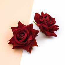 Load image into Gallery viewer, 10PCS Silk Red Roses Bridal Accessories