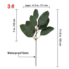 Load image into Gallery viewer, 5pcs Artificial Eucalyptus Leaf