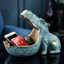 Load image into Gallery viewer, Hippo Statue Hippopotamus Sculpture Figurine