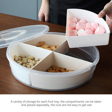 Load image into Gallery viewer, Compartment Candy Nut Snack Box with Lid
