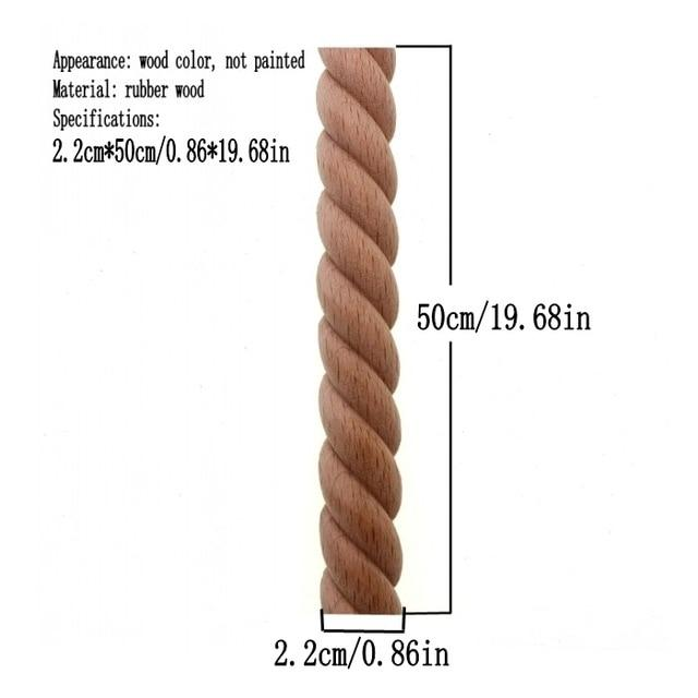 Wooden Carved  Twist Lines Style Decorative