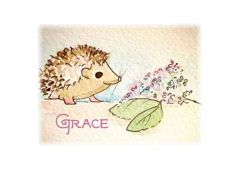 Hedgehog & the Hydrangea Note Cards