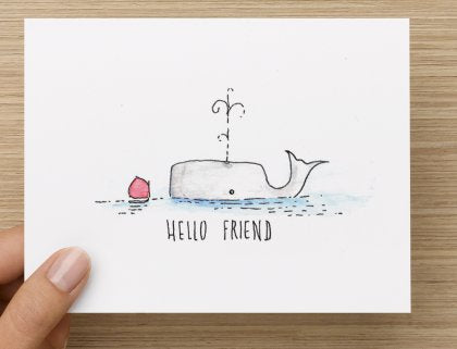 Hello Friend Note Cards