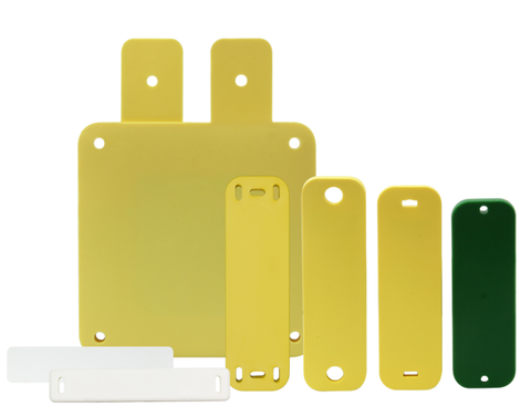 HID SlimFlex RFID tag UHF Higgs 3 Yellow with Slots
