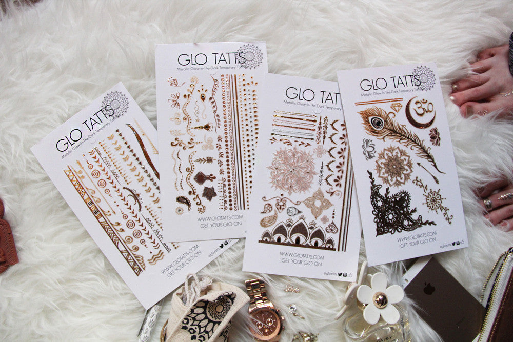 GLO TATTS - How to apply your tatts