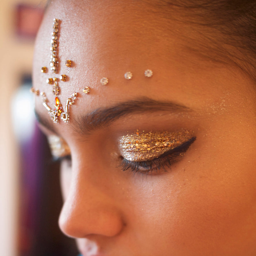 GLO TATTS bindi festival style face gem