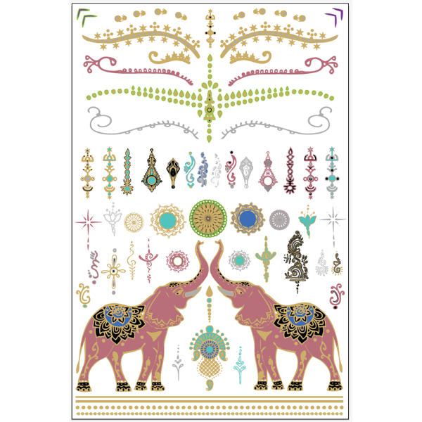 GLO TATTS® SITA Pack Metallic Glow Temporary Tattoos - GLO TATTS  - 7