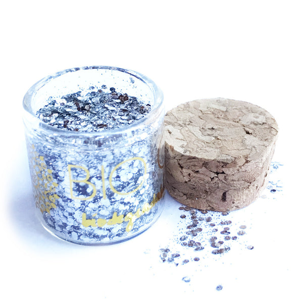 All NEW BIO GLO - Biodegradable Glitter - Silver Strike