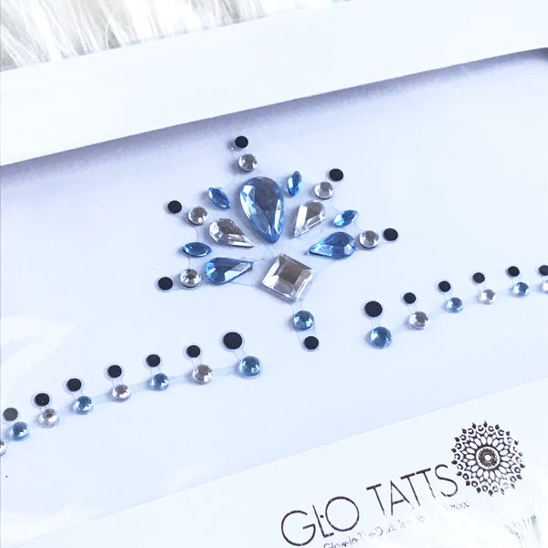 All-in-one GLO Bindi - Chunky Crystal Forehead Gems - Azure