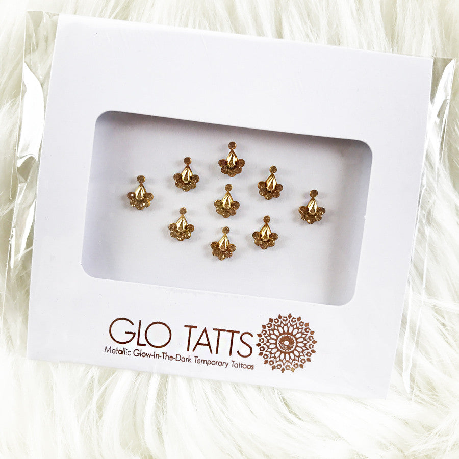 Bindi GLO TATTS - Gold Asra अस्र